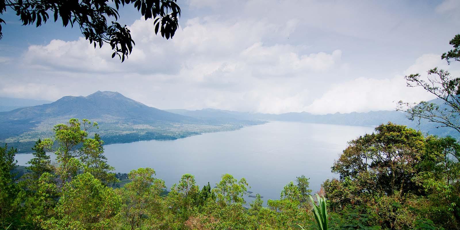 Gunung Batur lake and volcano