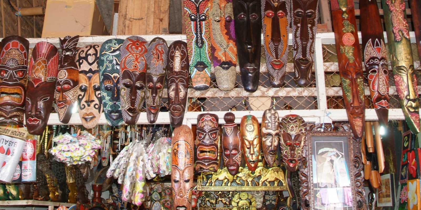 Masks in Bedugul market