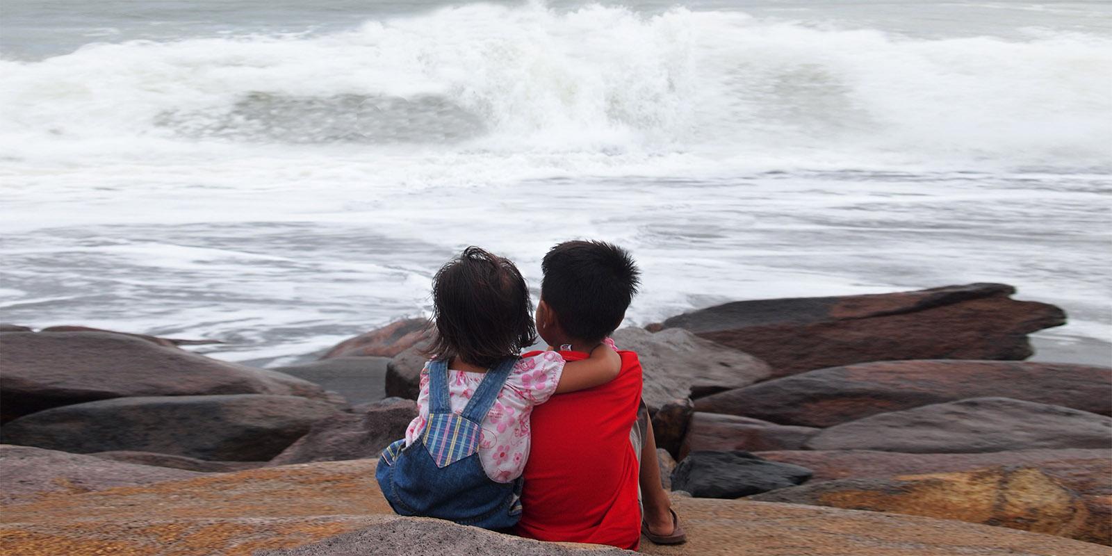 Friends in Seseh Beach
