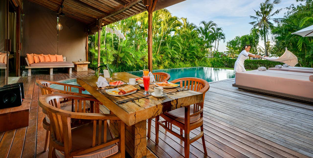 Villa Cantik pool view